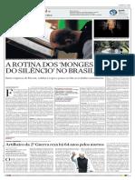 A Rotina Dos Monges Do Silêncio - Jornal O Estado de S. Paulo