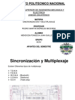 Apuntes de Sincronización y Multiplexaje