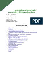 Educación Para Adultos y Discapacidades Intelectuales y Del Desarrollo y Afines