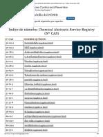 CDC - Guía de Bolsillo Del NIOSH Sobre Peligros Químicos - Índice de Números CAS
