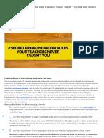 7 Secret Pronunciation Rules Your Teachers Never Taught You