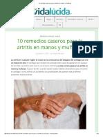 10 Remedios Caseros Para La Artritis en Manos y Muñecas