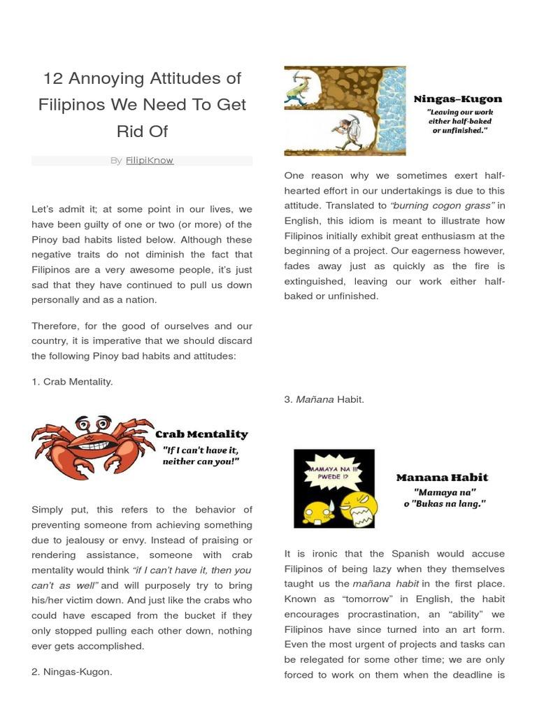 crab mentality of filipinos