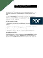 Manual de configuración para el Asesor de Contenido