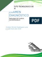 Examen Diagnóstico Máquinas Hidráulicas