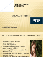 Why Teach Science in School?