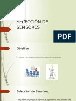 SELECCION DE SENSORES