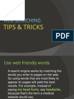 Web Searching-Tips Tricks