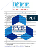 Pvr Technologies 2015-16 Java Titles
