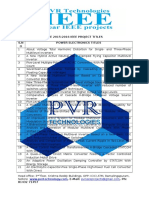 Pvr Technologies Eee 2015-2016 Ieee Project Titles