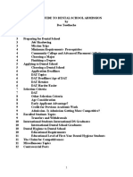 A Mini Guide to Dental School Admission 4-5-13