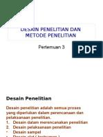 PRA TA 3 Metode Penelitian Dan Desain Penelitian A