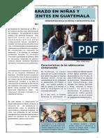 Embarazo Niñas y Adolescentes en Guatemala