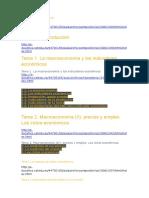 Temas de Economía en La Web