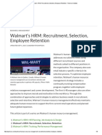 Walmart's HRM_ Recruitment, Selection, Employee Retention - Panmore Institute