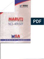 Maruti Security Alarm Manual