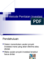 7 Metode Penilaian Investasi