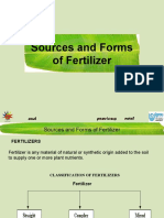 Sources and Forms of Fertilizers