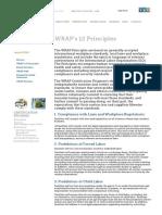 WRAP's 12 Principles