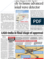 Hingoli likely to house advanced gravitational wave detector