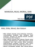 Nilai, Moral Dan Etika