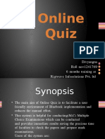 Online Quiz Project Ppt | Web Server | Html