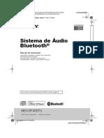 Manual Rádio Sony MEX-BT4007U