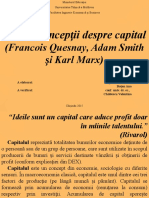 Concepții Despre Capital (Francois Quesnay, Adam Smith, Karl Marx)