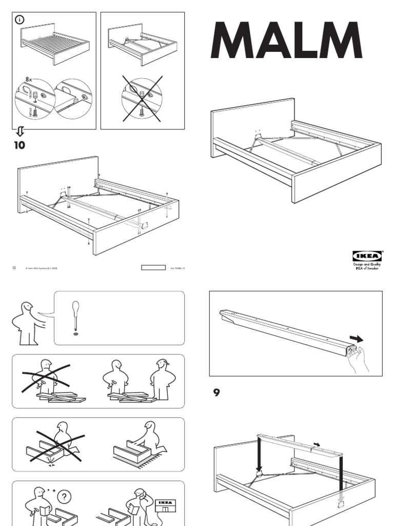 ikea malm bed assembly instructions queen