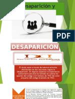 Desaparicion y Ausencia