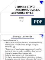 Strategic Leadership and Direction Setting (2) Fall 2009