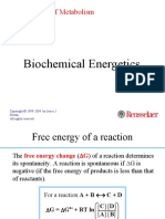 Biochemical Energetics