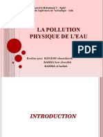 La Pollution Physique de l'Eau