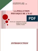 La Pollution Physique de l'Eau
