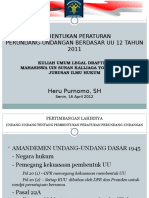 Pembentukan Peraturan Perundang Undangan Berdasar Uu 12 Tahun 20111