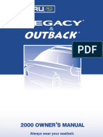 2000 Subaru Legacy Owners Manual