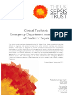 2014 Clinical Toolkit 6- Emergency Department Management of Paediatric Sepsis