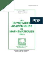 Olympiades de maths