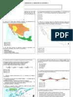 Examen de 2º. Bim. Hist. 2. 2010 - 2011. Taxco
