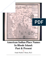American Indian Place Names in Rhode Island