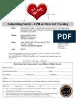 Babysitting Safety Flyer