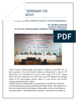 NATIONAL SEMINAR ON HOMOEOPATHY - A REPORT