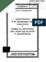 Hartmann, Nicolai - Aristoteles y El Problema Del Concepto - Sobre La Doctrina Del Eidos en Platón y Aristóteles (1)