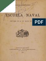 Reglamento de La Escuela Naval. Dictado en 28 de Mayo de 1884. (1886)