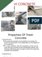 Properties of Fresh Concrete Presentation
