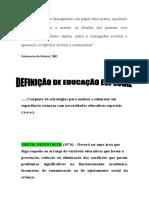 AULA Nº1 - DEFINIÇÃO DE EDUCAÇÃO ESPECIAL.doc