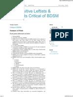 Sex-Positive Leftists & Feminists Critical of BDSM