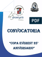 Convocatoria Copa Everest 2016