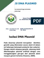 Isolasi DNA Plasmid (Bioteknologi)
