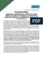 IMDEC Boletin de Prensa 9 de Abril de 2010